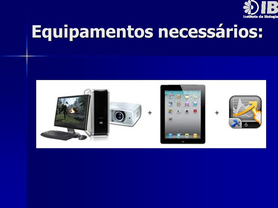 Equipamentos necessários:
