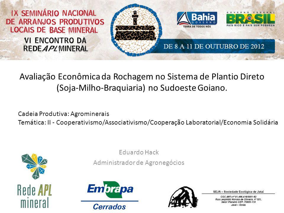 Eduardo Hack Administrador de Agronegócios