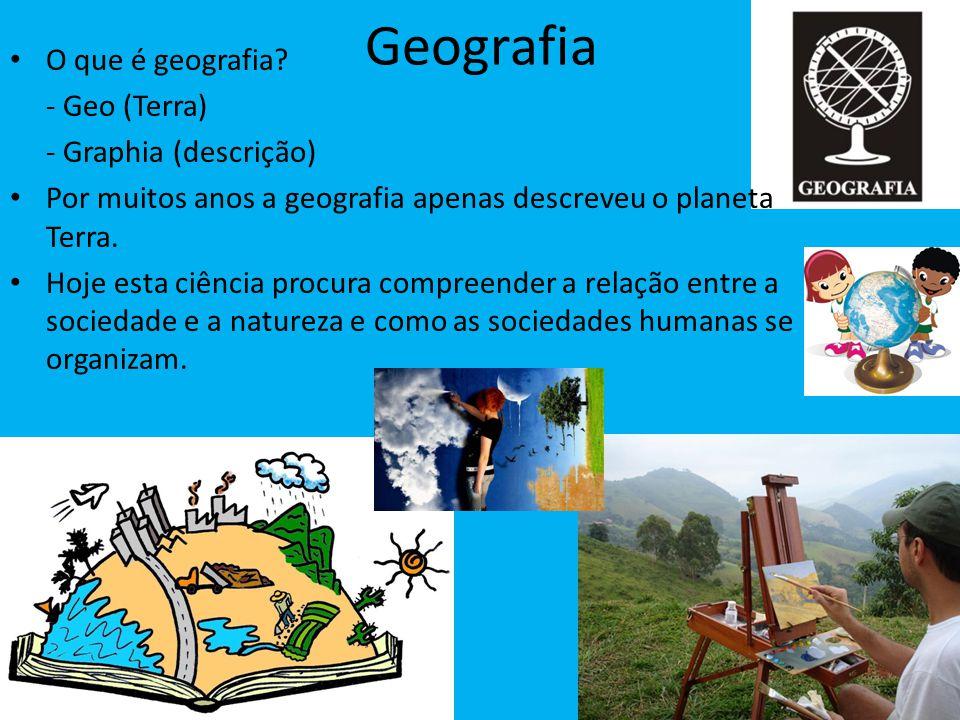 Geografia O que é geografia - Geo (Terra) - Graphia (descrição)