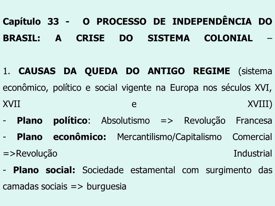 Capítulo 33 - O PROCESSO DE INDEPENDÊNCIA DO BRASIL: A CRISE DO SISTEMA COLONIAL – 1.