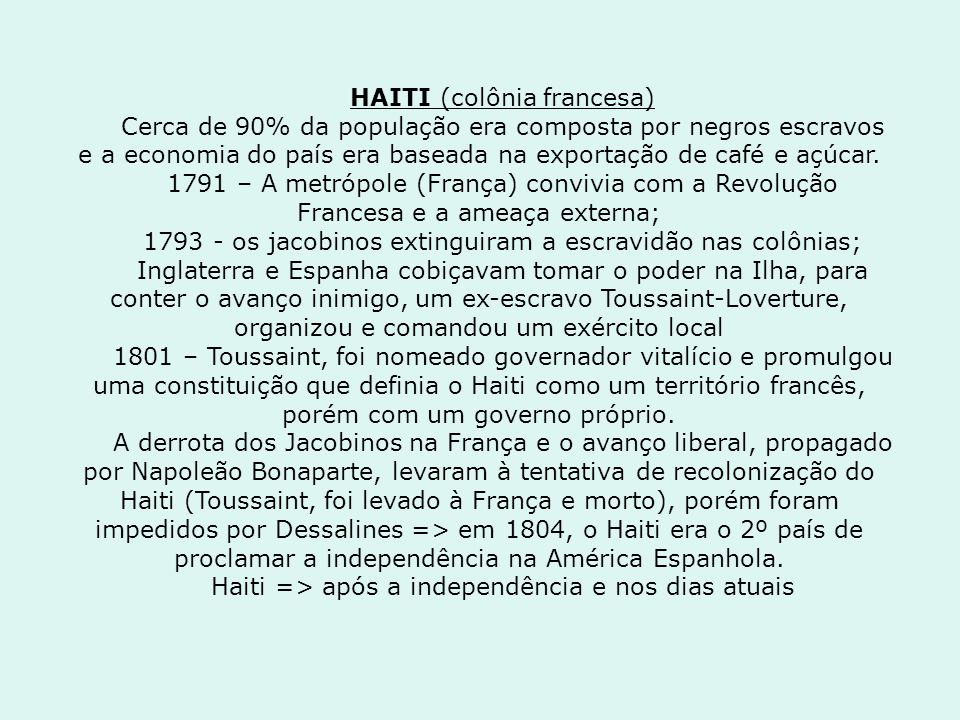 HAITI (colônia francesa)