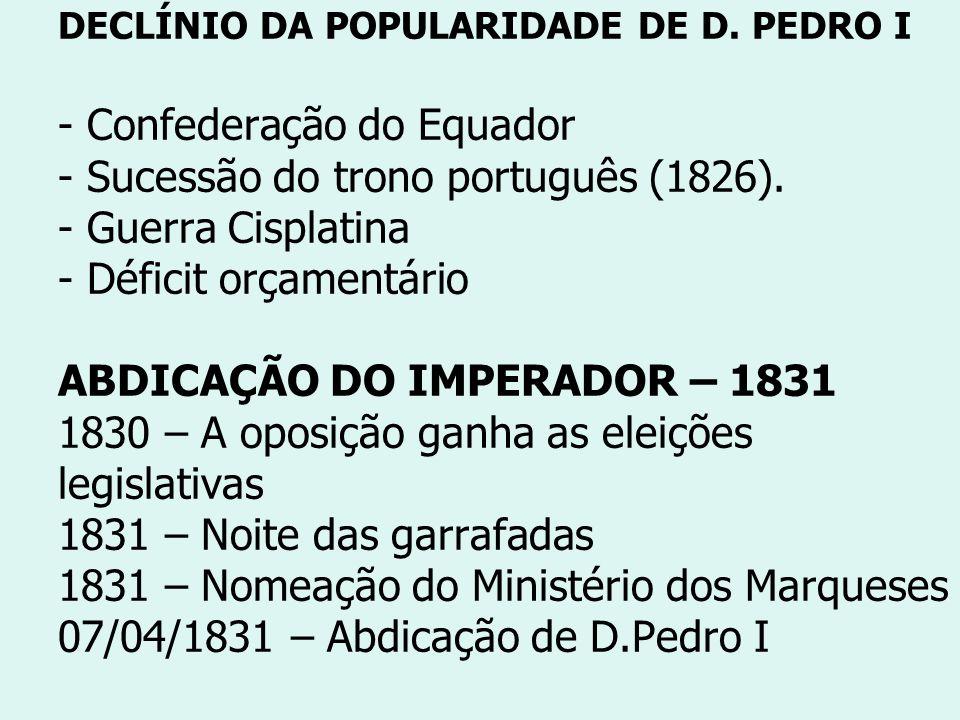 DECLÍNIO DA POPULARIDADE DE D