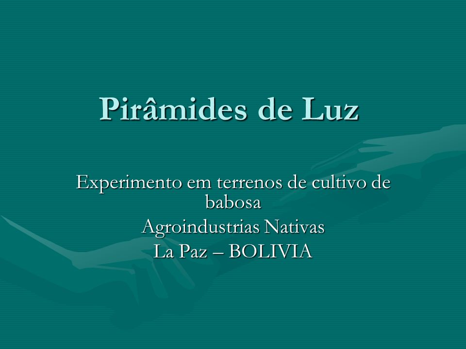 Pirâmides de Luz Experimento em terrenos de cultivo de babosa