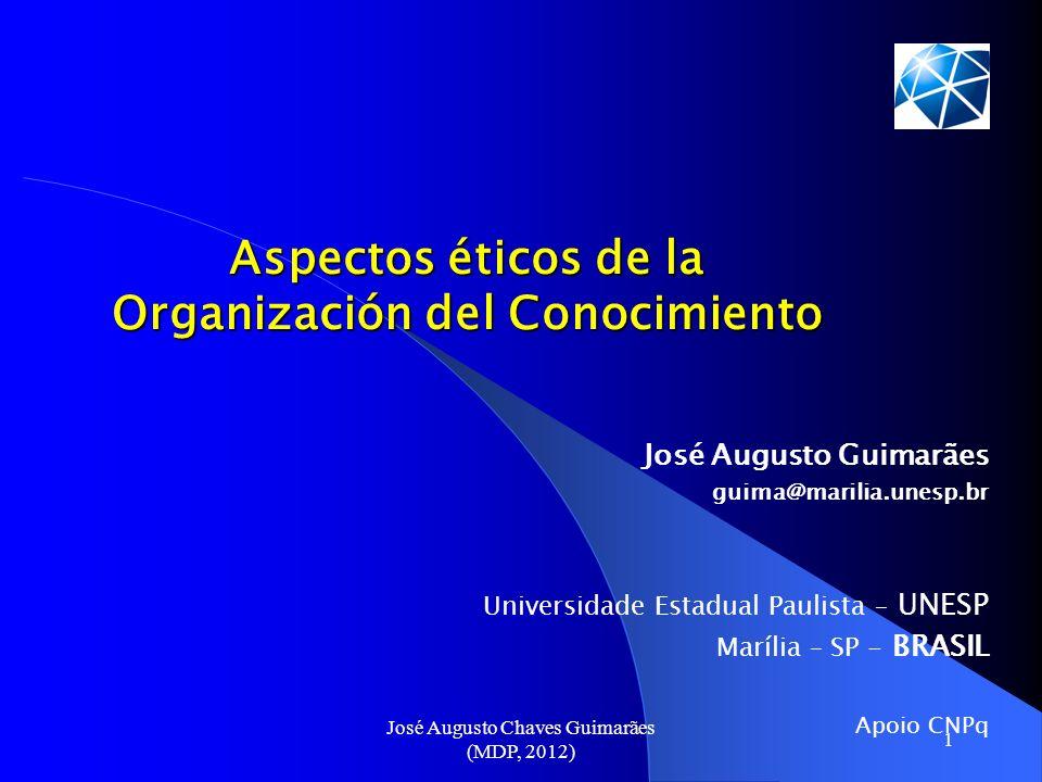 Aspectos éticos de la Organización del Conocimiento