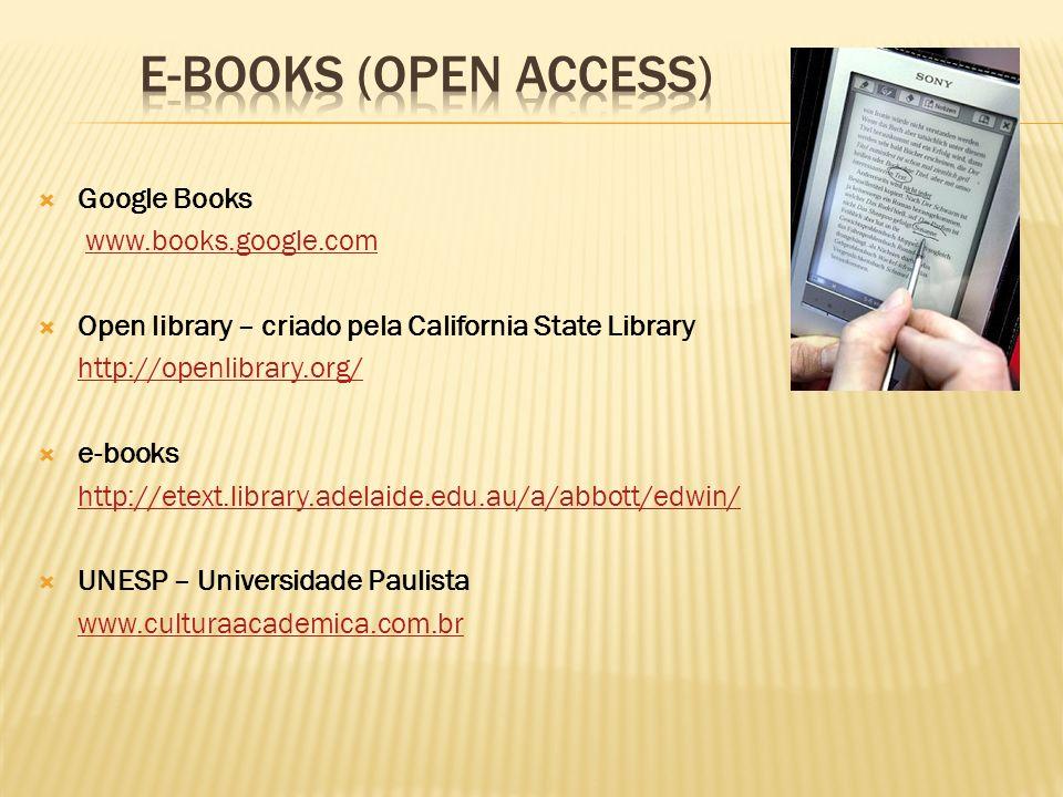 E-BOOKS (OPEN ACCESS) Google Books www.books.google.com