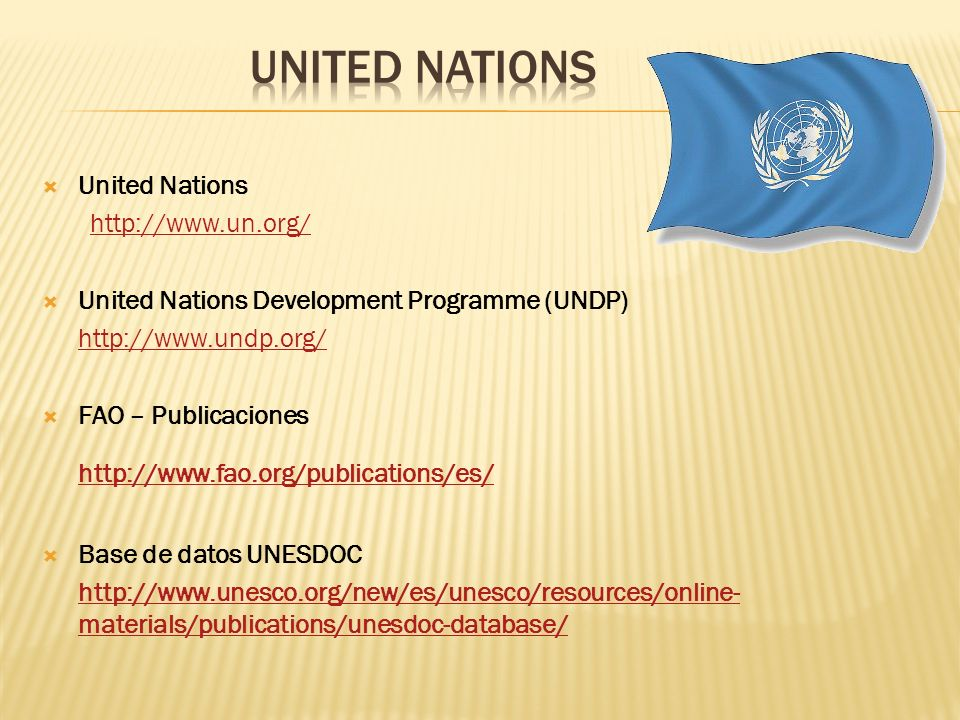 UNITED NATIONS http://www.fao.org/publications/es/ United Nations