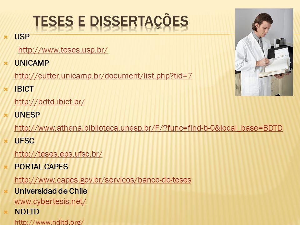 TESES E DISSERTAÇÕES USP http://www.teses.usp.br/ UNICAMP
