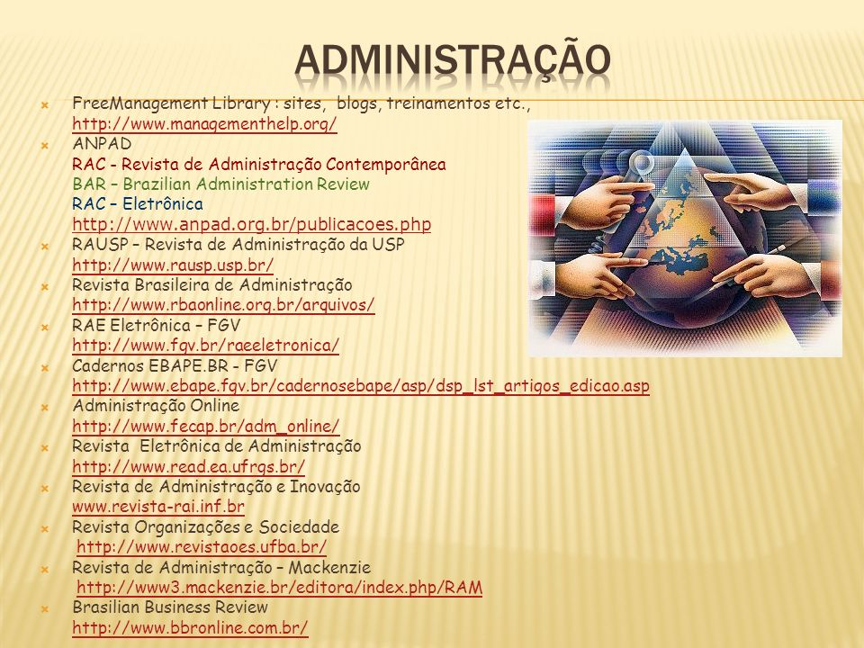 ADMINISTRAÇÃO FreeManagement Library : sites, blogs, treinamentos etc., http://www.managementhelp.org/