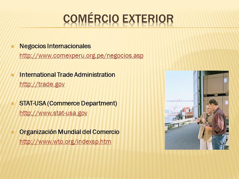 COMÉRCIO EXTERIOR Negocios Internacionales