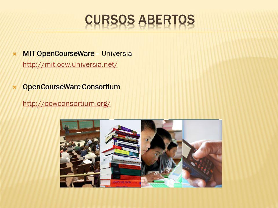 CURSOS ABERTOS MIT OpenCourseWare – Universia
