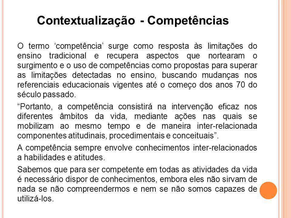 Contextualização - Competências
