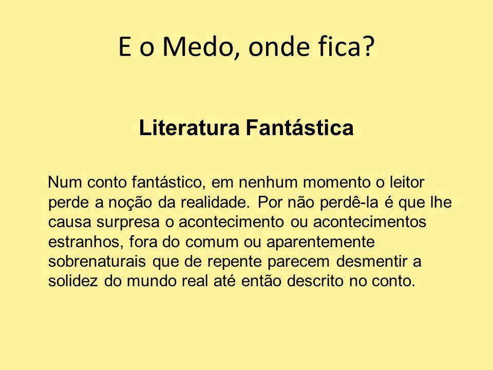 E o Medo, onde fica Literatura Fantástica