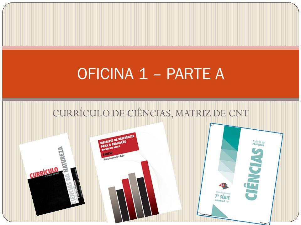 CURRÍCULO DE CIÊNCIAS, MATRIZ DE CNT