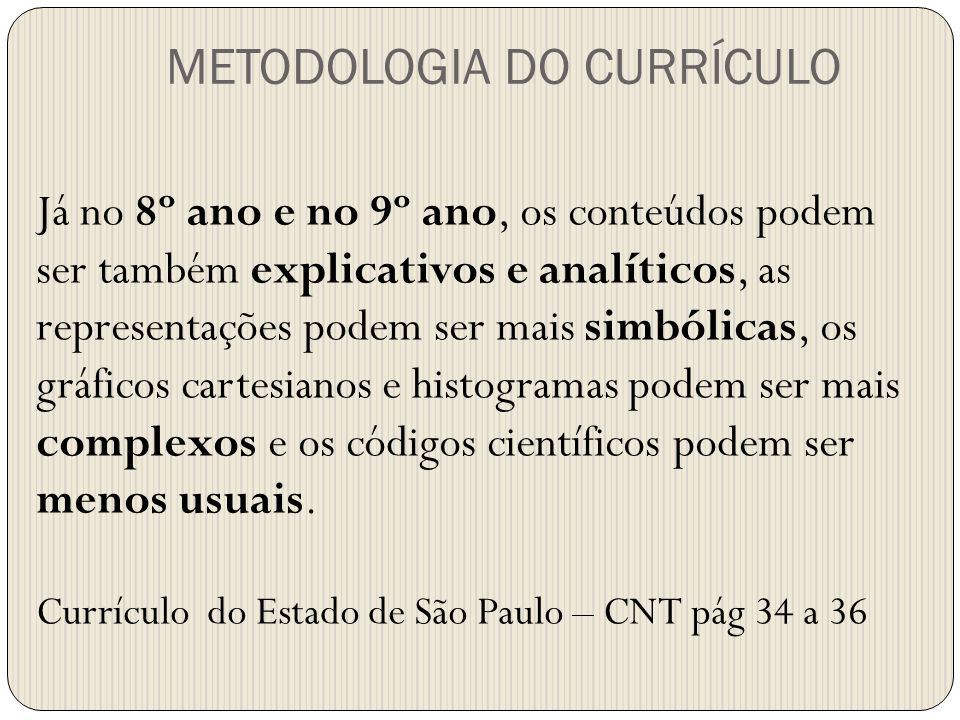 METODOLOGIA DO CURRÍCULO