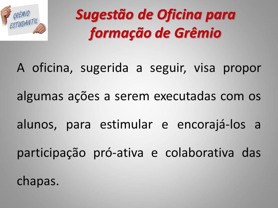 Sugestão de Oficina para formação de Grêmio