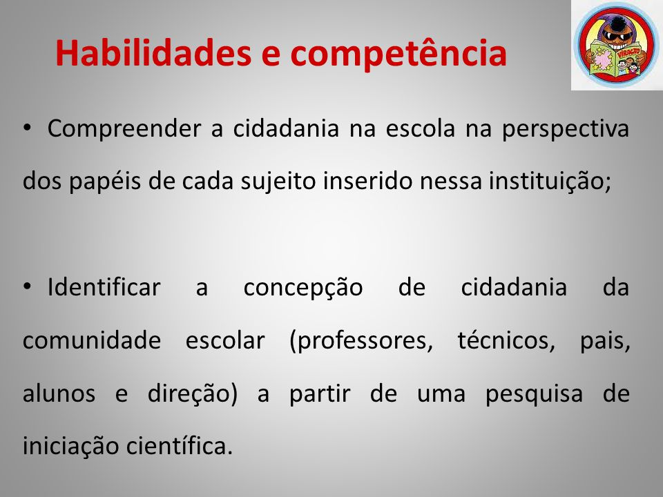 Habilidades e competência