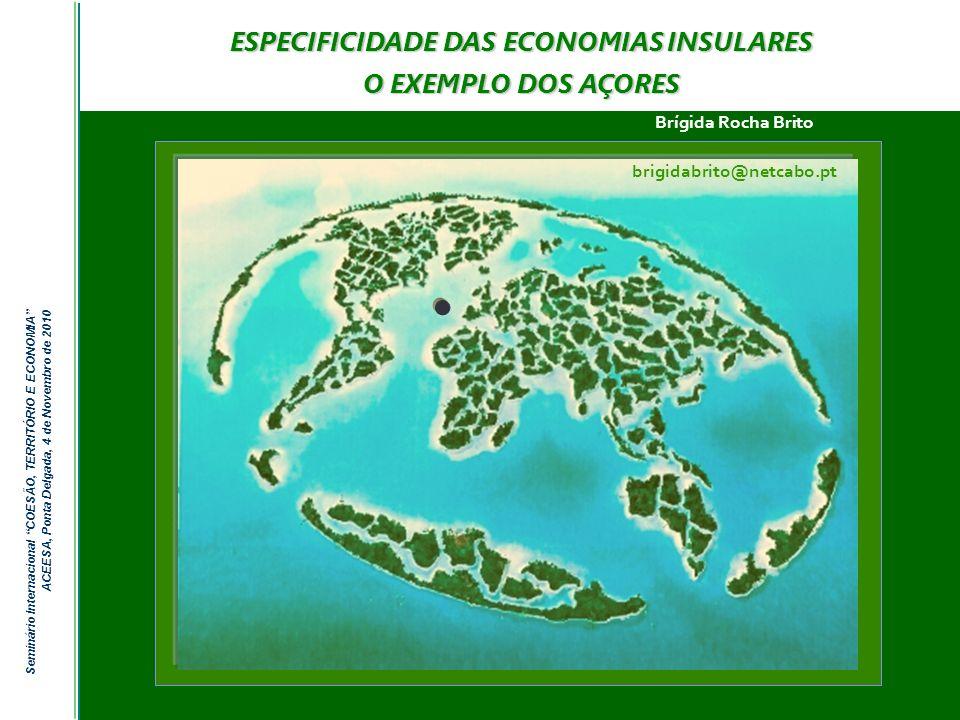 ESPECIFICIDADE DAS ECONOMIAS INSULARES