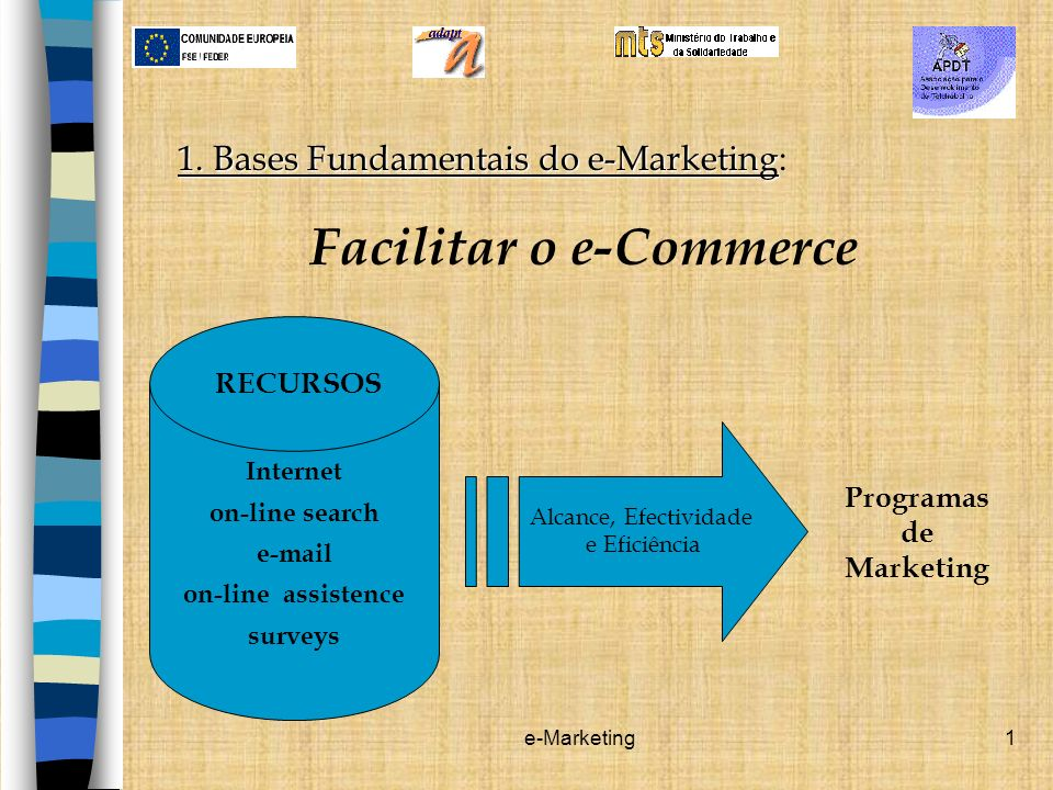 Facilitar o e-Commerce Programas de Marketing