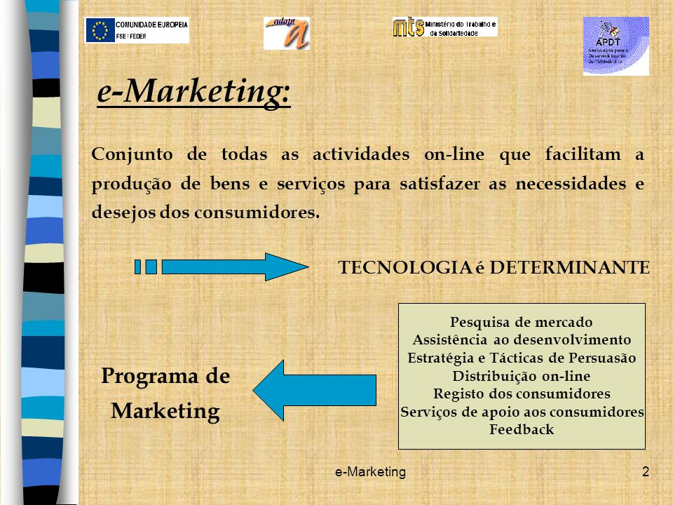 e-Marketing: Programa de Marketing