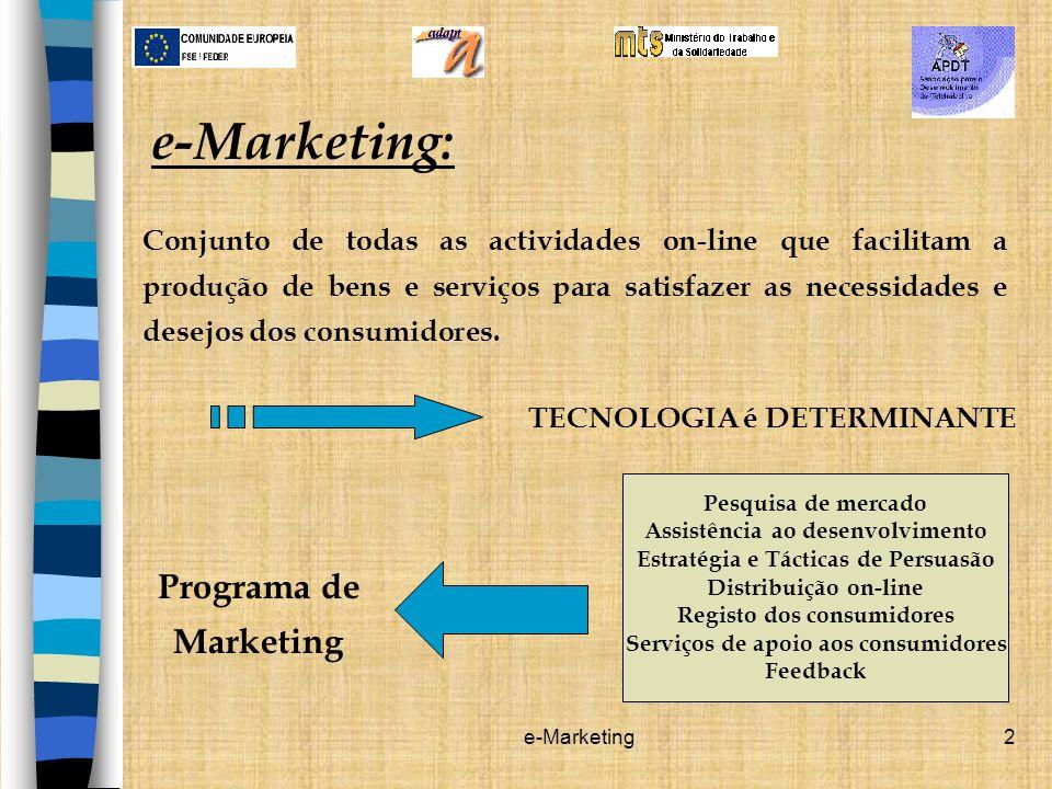 e-Marketing: Programa de Marketing