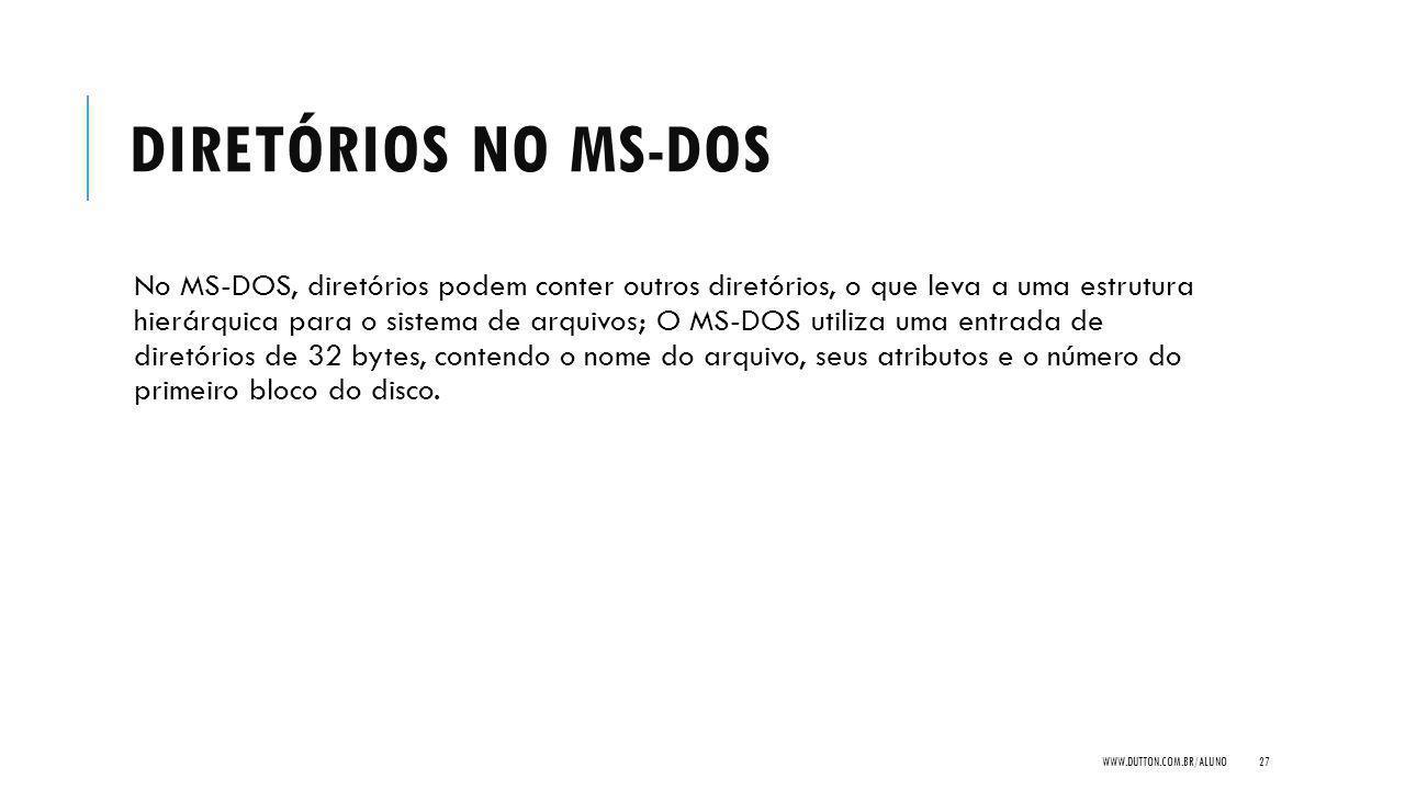 Diretórios no MS-DOS