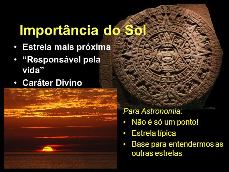 Importância do Sol Estrela mais próxima Responsável pela vida
