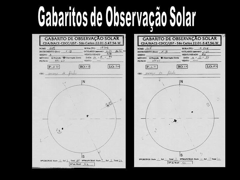 Gabaritos de Observação Solar