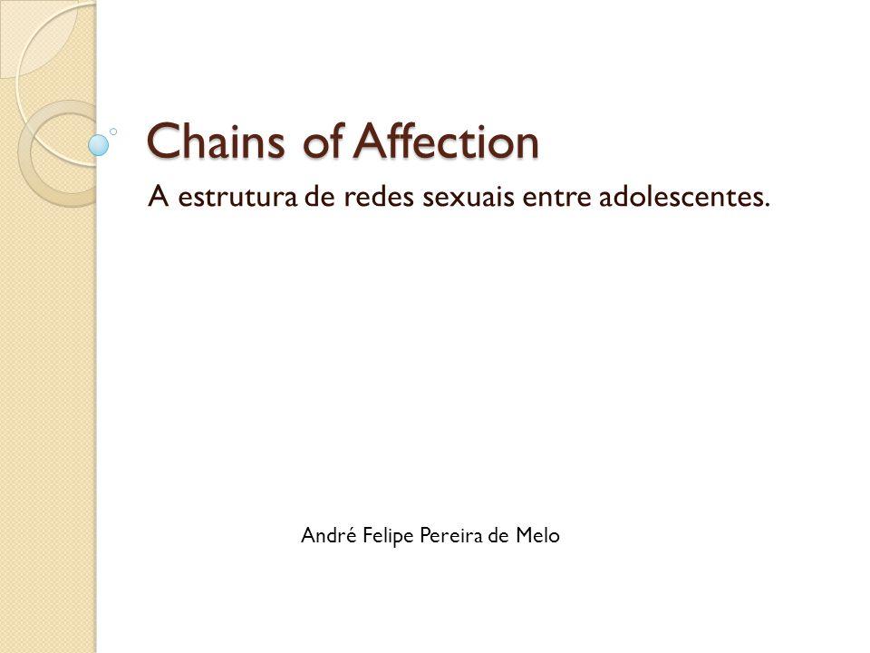 A estrutura de redes sexuais entre adolescentes.