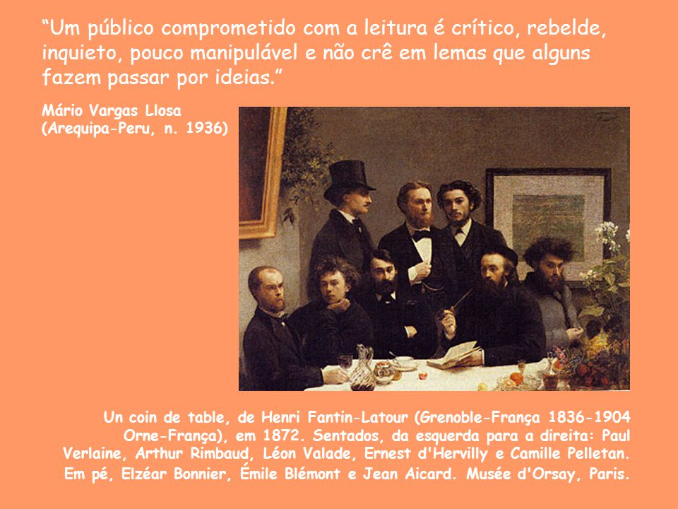 Um público comprometido com a leitura é crítico, rebelde, inquieto, pouco manipulável e não crê em lemas que alguns fazem passar por ideias.