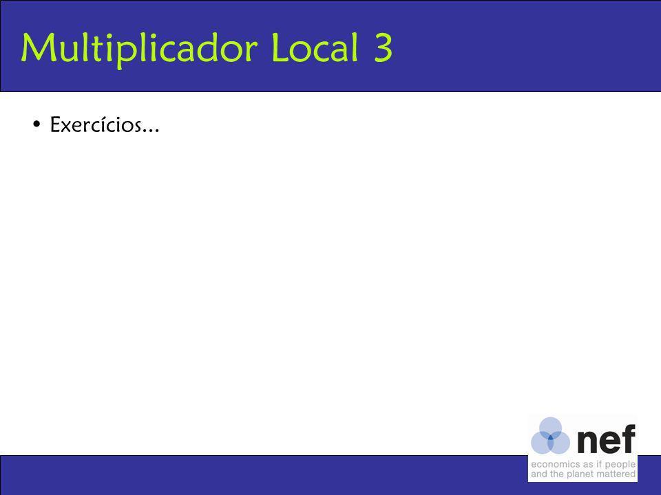 Multiplicador Local 3 Exercícios...
