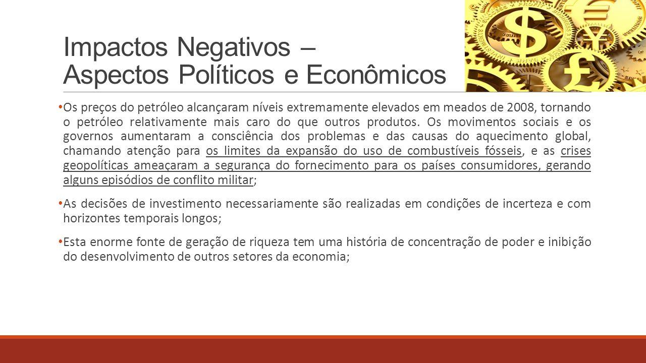 Impactos Negativos – Aspectos Políticos e Econômicos