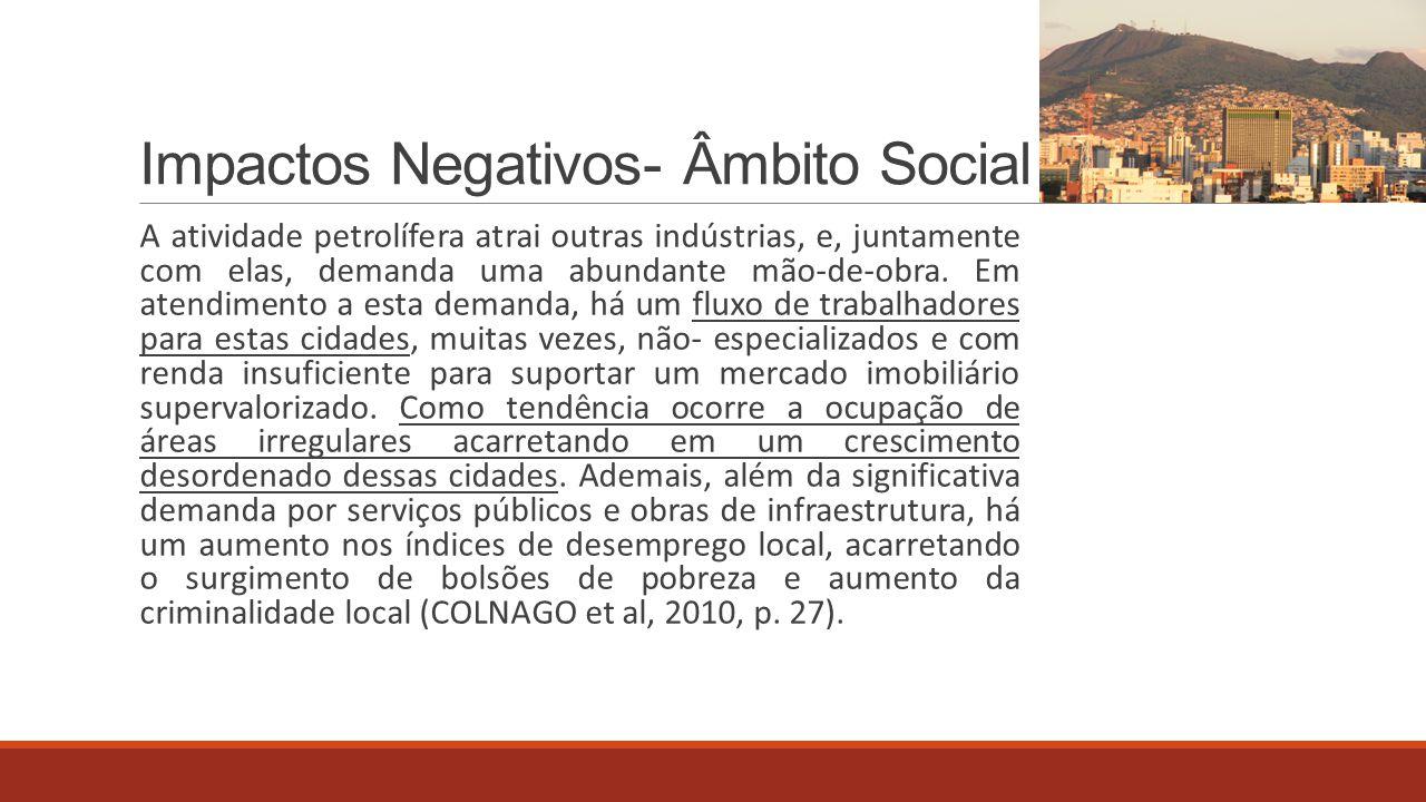 Impactos Negativos- Âmbito Social
