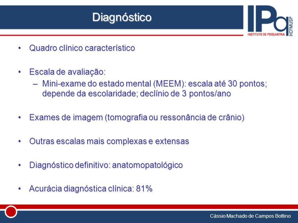 Diagnóstico Quadro clínico característico Escala de avaliação: