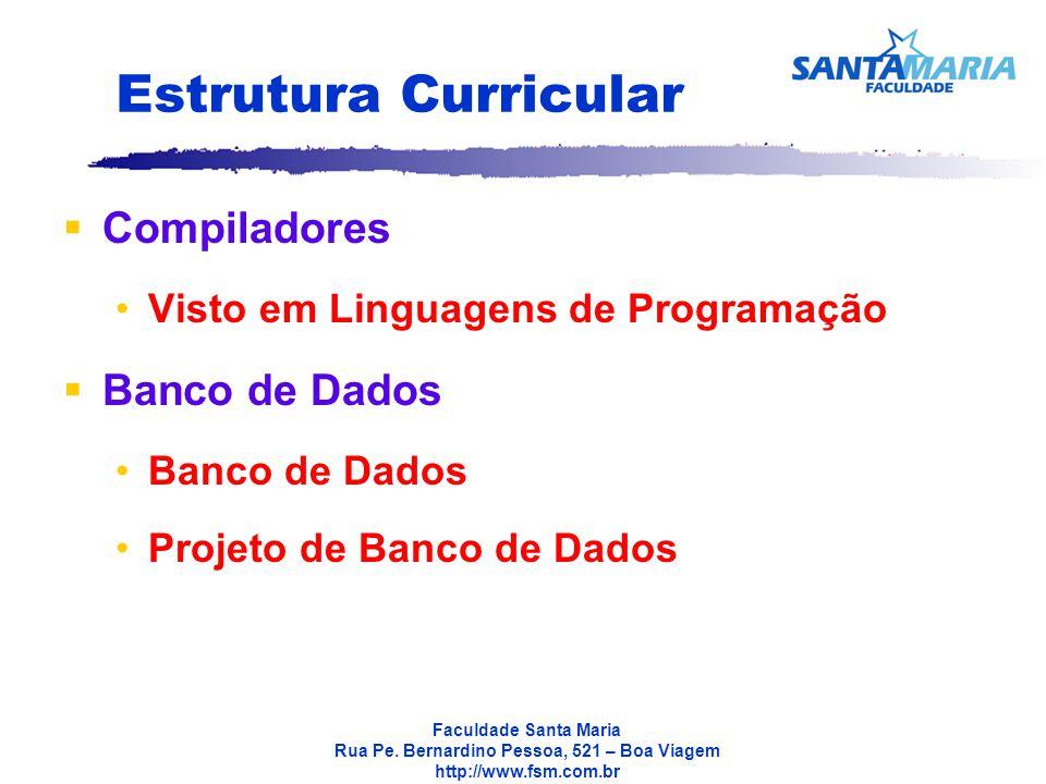 Estrutura Curricular Compiladores Banco de Dados