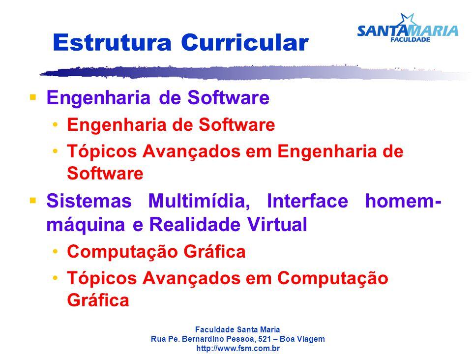 Estrutura Curricular Engenharia de Software