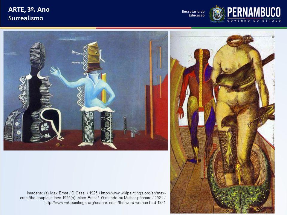ARTE, 3º. Ano Surrealismo.