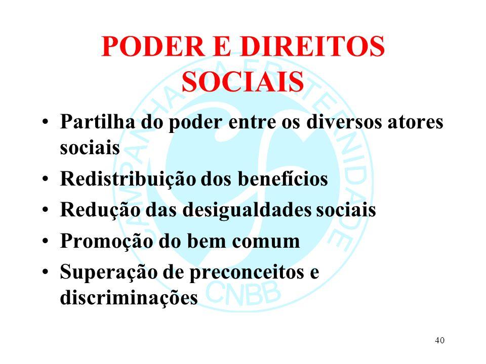 PODER E DIREITOS SOCIAIS