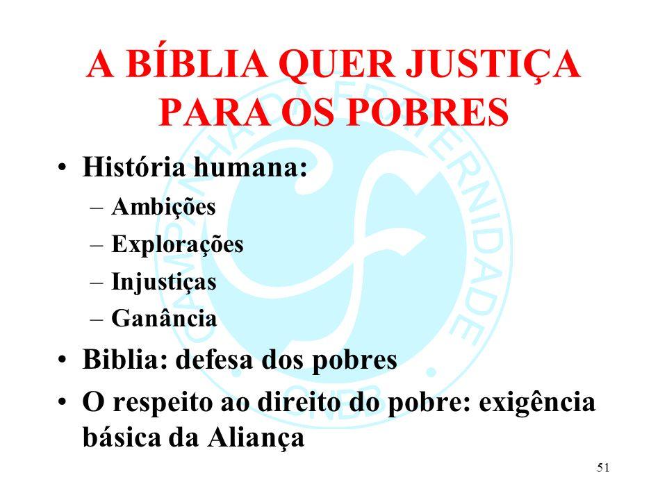 A BÍBLIA QUER JUSTIÇA PARA OS POBRES
