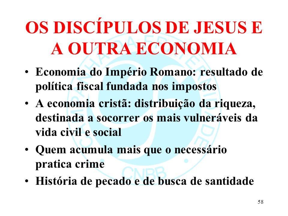 OS DISCÍPULOS DE JESUS E A OUTRA ECONOMIA
