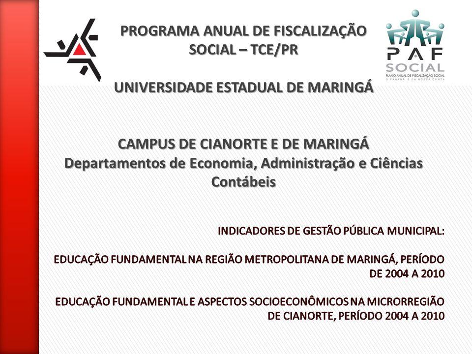 PROGRAMA ANUAL DE FISCALIZAÇÃO SOCIAL – TCE/PR
