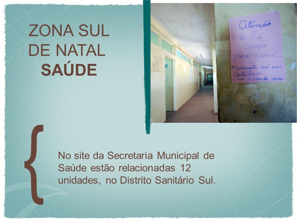 ZONA SUL DE NATAL. SAÚDE.