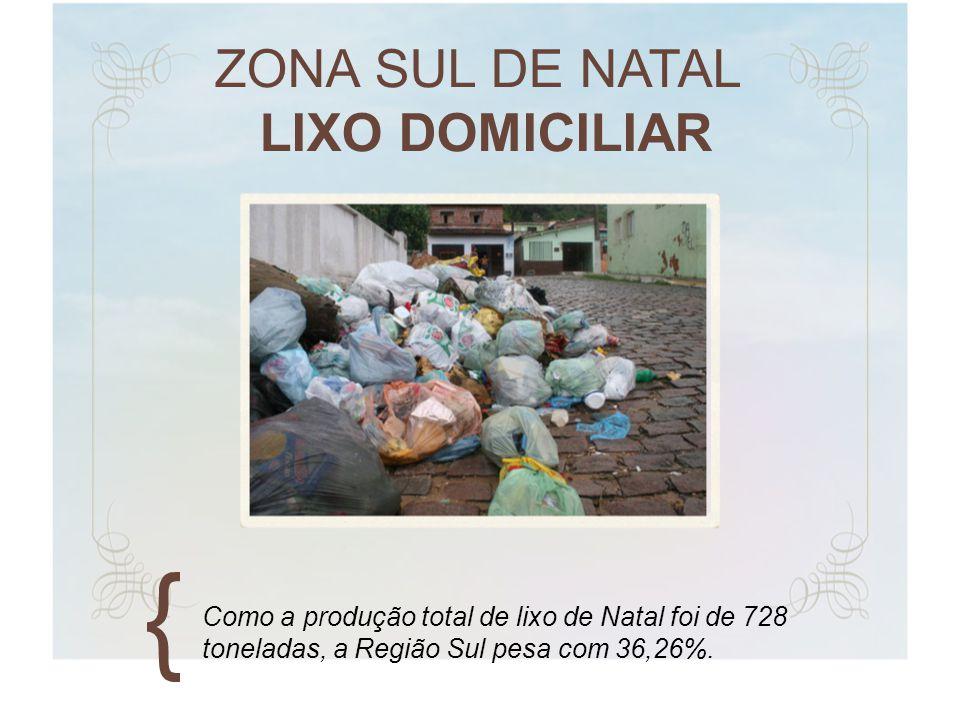ZONA SUL DE NATAL LIXO DOMICILIAR