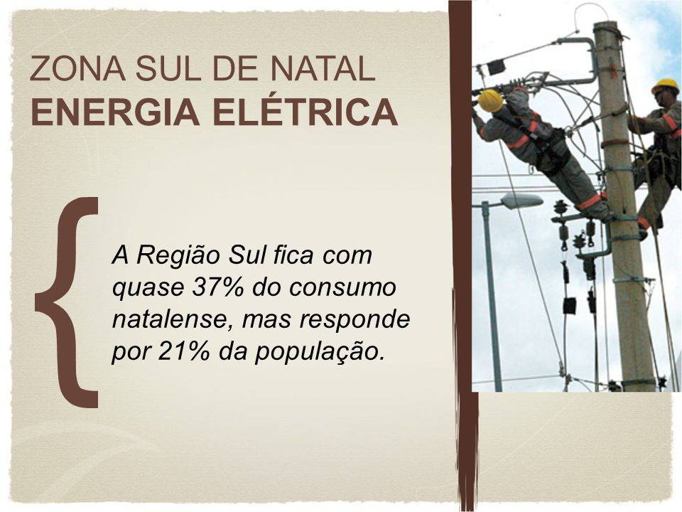 ENERGIA ELÉTRICA ZONA SUL DE NATAL