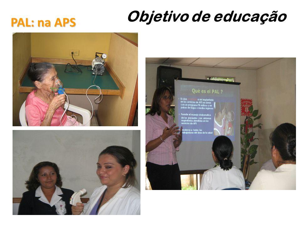 Objetivo de educação PAL: na APS 39