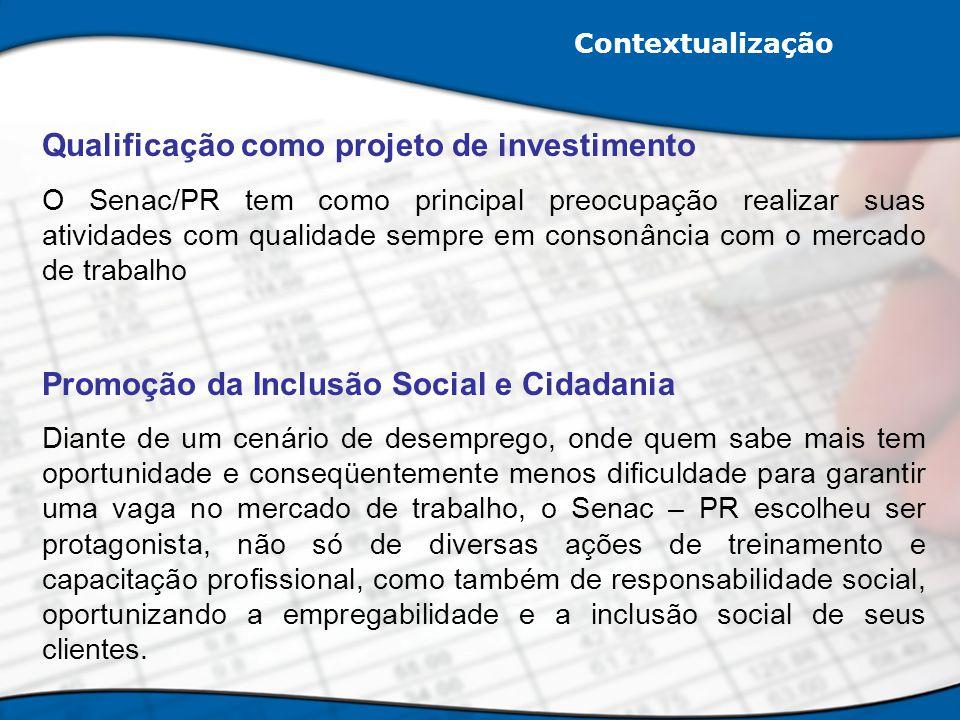 Qualificação como projeto de investimento