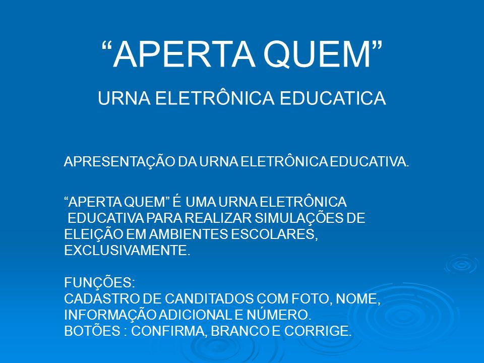 URNA ELETRÔNICA EDUCATICA