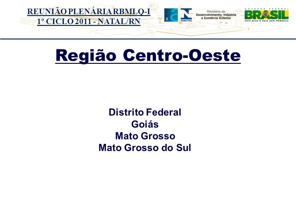Região Centro-Oeste Distrito Federal Distrito Federal Goiás Goiás