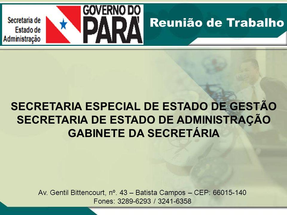 Reunião de Trabalho SECRETARIA ESPECIAL DE ESTADO DE GESTÃO