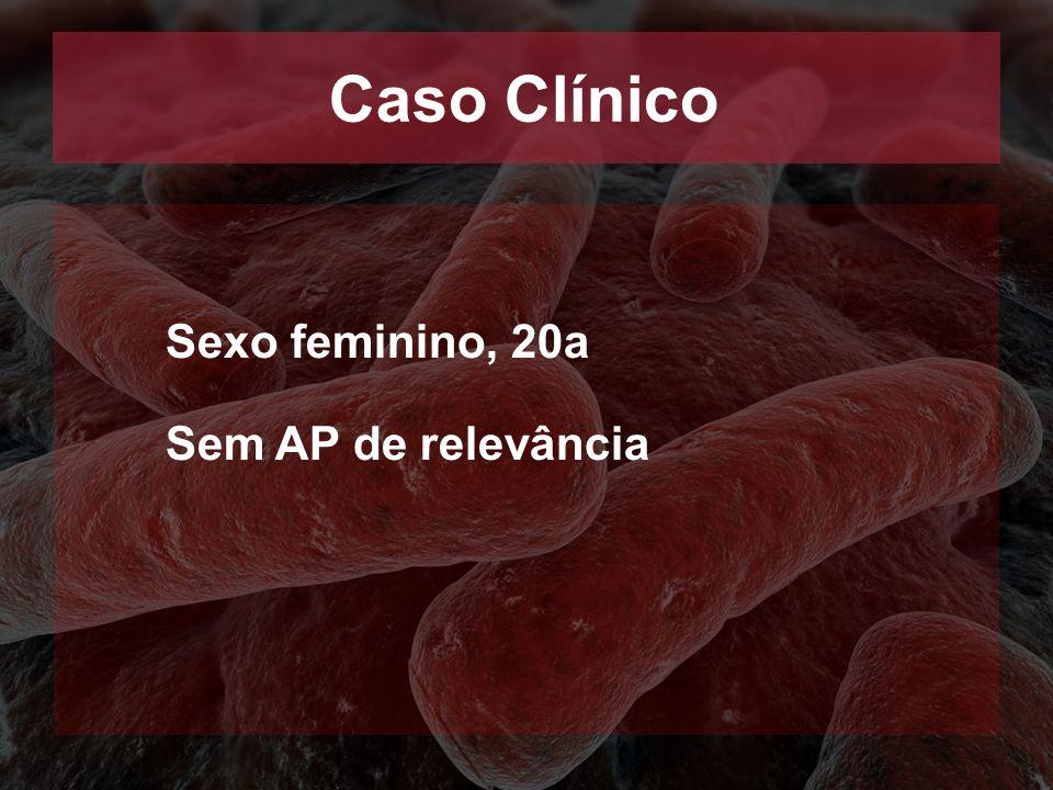 Caso Clínico Sexo feminino, 20a Sem AP de relevância