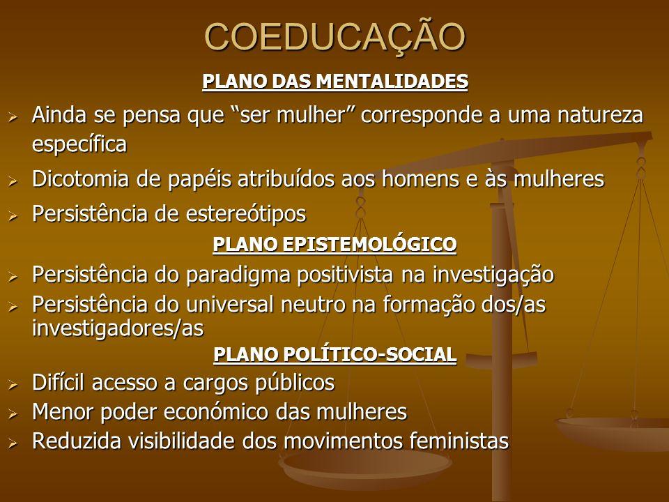 PLANO DAS MENTALIDADES PLANO POLÍTICO-SOCIAL
